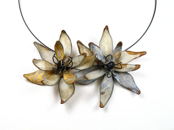 Jessica beels design paper jewelry portfoliogallery of handmade dahlia pendants aloadofball Images